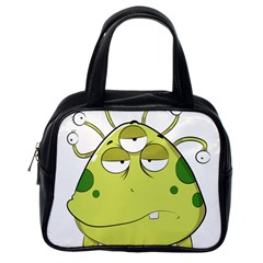 The Most Ugly Alien Ever Classic Handbags (one Side) by Catifornia