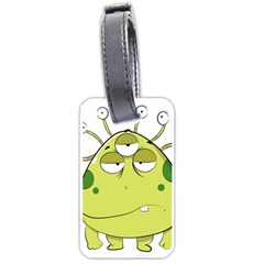 The Most Ugly Alien Ever Luggage Tags (one Side)  by Catifornia