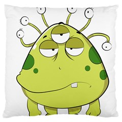 The Most Ugly Alien Ever Large Cushion Case (two Sides) by Catifornia