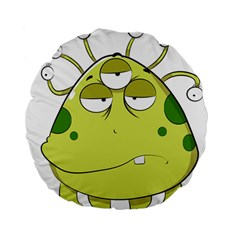 The Most Ugly Alien Ever Standard 15  Premium Round Cushions by Catifornia