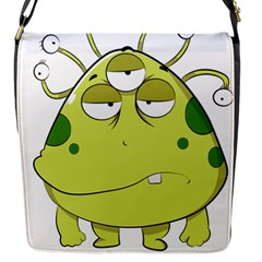 The Most Ugly Alien Ever Flap Messenger Bag (s) by Catifornia