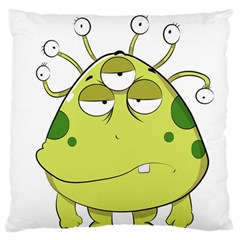 The Most Ugly Alien Ever Standard Flano Cushion Case (one Side) by Catifornia