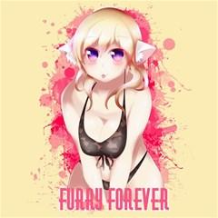 Blonde Hair Bikini Furry Girl Canvas 12  X 12
