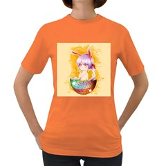 Easter Bunny Furry Women s Dark T Shirt