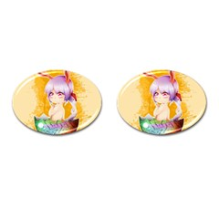 Easter Bunny Furry Cufflinks (oval) by Catifornia