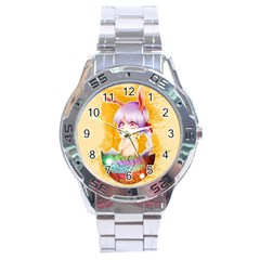 Easter Bunny Furry Stainless Steel Analogue Watch by Catifornia