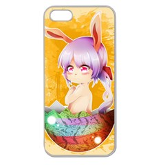 Easter Bunny Furry Apple Seamless Iphone 5 Case (clear) by Catifornia