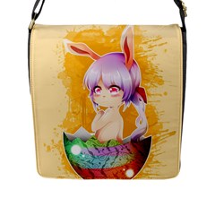 Easter Bunny Furry Flap Messenger Bag (l)  by Catifornia