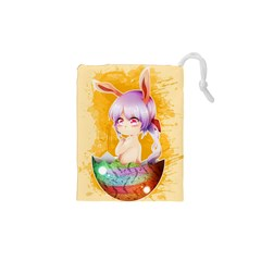 Easter Bunny Furry Drawstring Pouches (xs)  by Catifornia