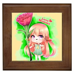 Happy Mother s Day Furry Girl Framed Tiles by Catifornia
