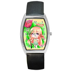 Happy Mother s Day Furry Girl Barrel Style Metal Watch by Catifornia