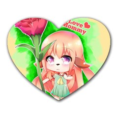Happy Mother s Day Furry Girl Heart Mousepads by Catifornia