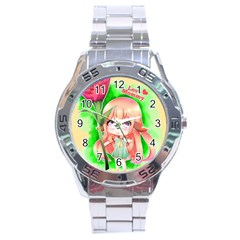 Happy Mother s Day Furry Girl Stainless Steel Analogue Watch by Catifornia