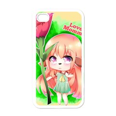 Happy Mother s Day Furry Girl Apple Iphone 4 Case (white) by Catifornia