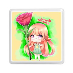 Happy Mother s Day Furry Girl Memory Card Reader (square)  by Catifornia