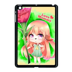 Happy Mother s Day Furry Girl Apple Ipad Mini Case (black) by Catifornia