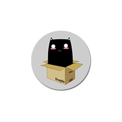 Black Cat In A Box Golf Ball Marker (10 Pack) by Catifornia