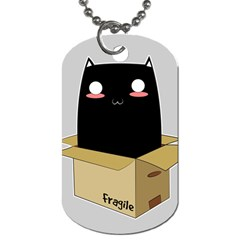 Black Cat In A Box Dog Tag (two Sides) by Catifornia