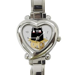 Black Cat In A Box Heart Italian Charm Watch by Catifornia