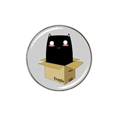 Black Cat In A Box Hat Clip Ball Marker (4 Pack) by Catifornia