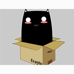 Black Cat In A Box Canvas 18  X 24   by Catifornia
