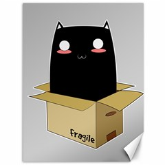 Black Cat In A Box Canvas 36  X 48   by Catifornia
