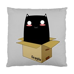 Black Cat In A Box Standard Cushion Case (two Sides) by Catifornia