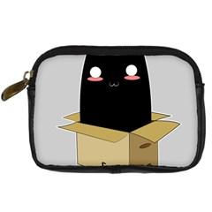 Black Cat In A Box Digital Camera Cases by Catifornia