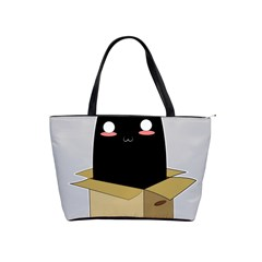 Black Cat In A Box Shoulder Handbags by Catifornia