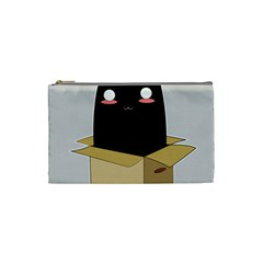 Black Cat In A Box Cosmetic Bag (small)  by Catifornia