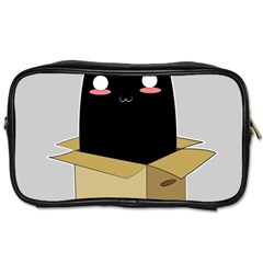 Black Cat In A Box Toiletries Bags 2 Side by Catifornia