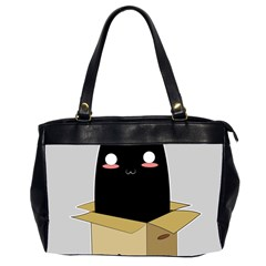 Black Cat In A Box Office Handbags (2 Sides)  by Catifornia