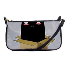 Black Cat In A Box Shoulder Clutch Bags by Catifornia