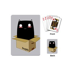 Black Cat In A Box Playing Cards (mini)  by Catifornia