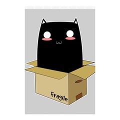 Black Cat In A Box Shower Curtain 48  X 72  (small)  by Catifornia