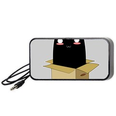 Black Cat In A Box Portable Speaker (black) by Catifornia