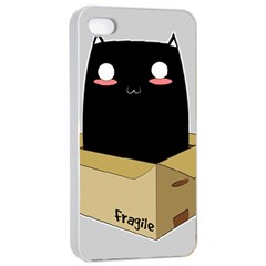 Black Cat In A Box Apple Iphone 4/4s Seamless Case (white) by Catifornia