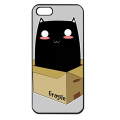 Black Cat In A Box Apple Iphone 5 Seamless Case (black) by Catifornia