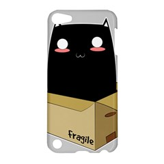 Black Cat In A Box Apple Ipod Touch 5 Hardshell Case by Catifornia