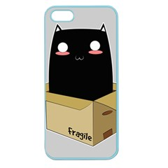 Black Cat In A Box Apple Seamless Iphone 5 Case (color) by Catifornia