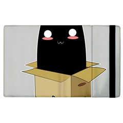 Black Cat In A Box Apple Ipad 2 Flip Case by Catifornia