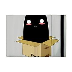 Black Cat In A Box Apple Ipad Mini Flip Case by Catifornia