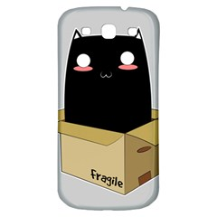 Black Cat In A Box Samsung Galaxy S3 S Iii Classic Hardshell Back Case by Catifornia
