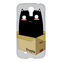 Black Cat In A Box Samsung Galaxy S4 I9500/i9505 Hardshell Case by Catifornia