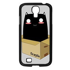 Black Cat In A Box Samsung Galaxy S4 I9500/ I9505 Case (black) by Catifornia