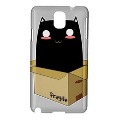 Black Cat In A Box Samsung Galaxy Note 3 N9005 Hardshell Case by Catifornia