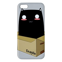 Black Cat In A Box Iphone 5s/ Se Premium Hardshell Case by Catifornia
