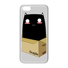 Black Cat In A Box Apple Iphone 5c Seamless Case (white) by Catifornia
