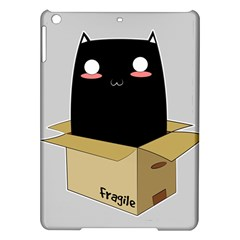 Black Cat In A Box Ipad Air Hardshell Cases by Catifornia