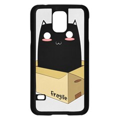 Black Cat In A Box Samsung Galaxy S5 Case (black) by Catifornia
